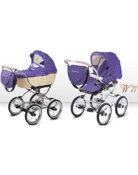 BabyActive Wózek wielofunkcyjny Ballerina Wiklina 3w1