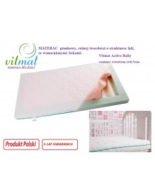 Vitmat Materac Piankowy Active Baby 120x60x9cm