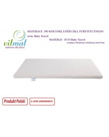 Vitmat Materac Piankowy Eco Baby Travel 90x40 cm do wyceny