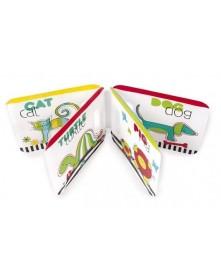 Canpol miękka książeczka z piszczałką Kolorowe zwierzęta 74/009
