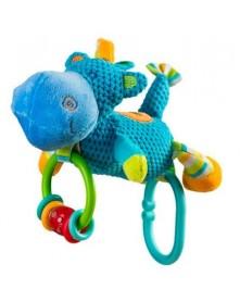 Baby Ono zabawka welurowa dzwoniąca Hippo 1326