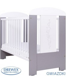 Drewex Łóżeczko drewniane Gwiazdki 120x60cm