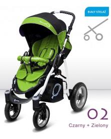 BabyActive Wózek spacerowy na pompowanych kołach Q
