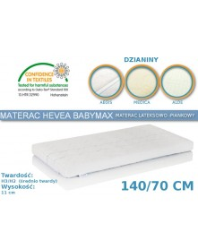 Hevea Materac lateksowo-piankowy BabyMax  Aegis/Medica/Aloe 140/70cm