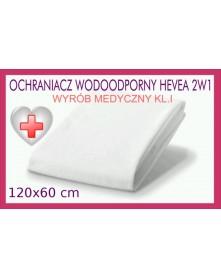 Hevea Ochraniacz wodoodporny Frotte 2w1 120/60 cm