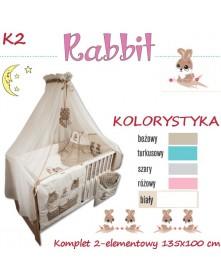 Ankras Pościel 2-elementowa Rabbit  135/100 40/60
