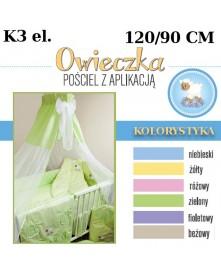 Ankras Pościel 3 elementowa słodki sen Owieczka  bez wypełnienia 120/90 40/60 z ochraniaczem 180cm