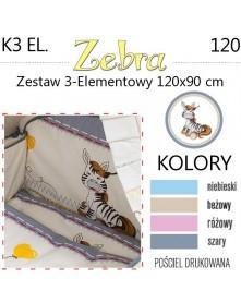 Ankras Pościel 3-elementowa Zebra 120/90 cm