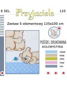 Ankras Pościel 5-elementowan Przyjaciele 135/100 cm