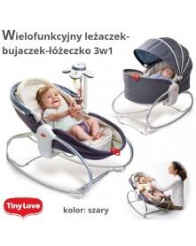 Tiny Love Wielofunkcyjny leżaczek-bujaczek-łóżeczko 3w1 Szary