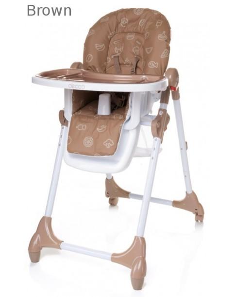 4Baby Krzesełko do karmienia Decco brown