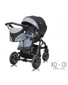 BabyActive Wózek Spacerowy XQ na pompowanych kołach