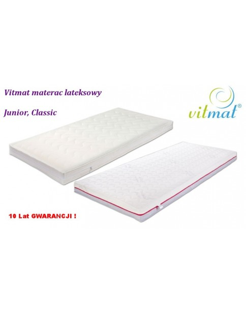 Vitmat  Junior Classic, Duo Materac Lateksowy  90x 180x 12 cm okladka