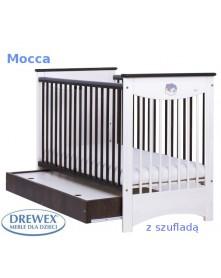 Drewex łóżeczko Mocca Szuflada  120x60cm