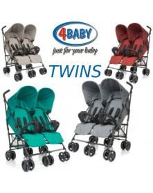 4 Baby wózek bliźniaczy spacerowy TWINS
