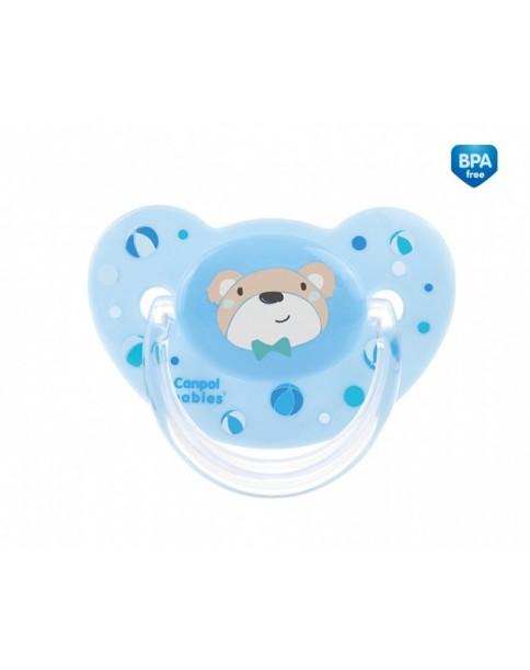 Canpol Smoczek silikonowy anatomiczny Sweet Fun (18+ miesięcy) niebieski 22/600