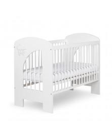 Klupś łóżeczko Nel CHMURKA biały 120x60cm