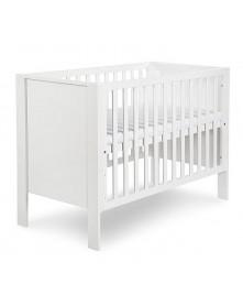 Klupś łóżeczko LEO biały 120x60cm