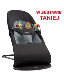 Babybjorn leżaczek BALANCE SOFT - Czarny / Ciemnoszary + Zabawka