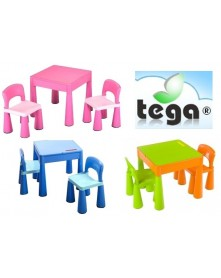 Tega Komplet plastikowy stolik i dwa krzesełka Mamut MT-001