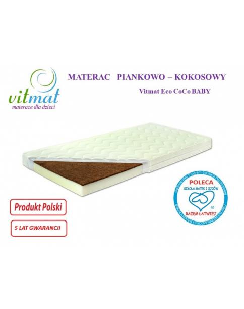Vitmat Materac Piankowo-Kokosowy ECO CoCoBaby 120x60x9cm
