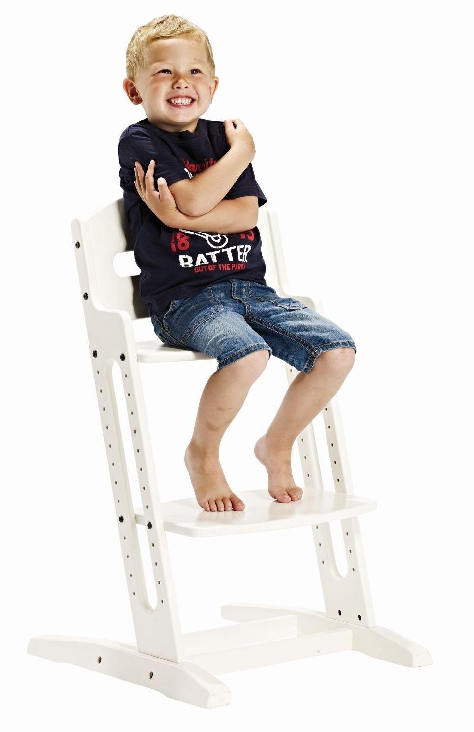 BabyDan Krzesło do karmienia DANCHAIR BIAŁE chłopaczek