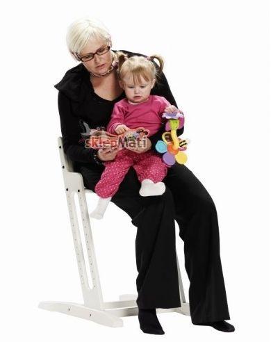 BabyDan Krzesło do karmienia DANCHAIR BIAŁE maluch z babcią