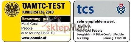 Maxi-Cosi 2waypearl certyfikaty