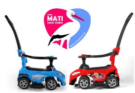 Milly Mally Pojazd HAPPY red bok