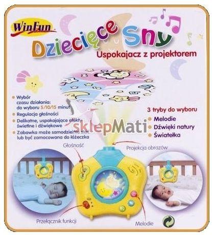 Smily Play Uspokajacz z projektem dziecięcym funkcje