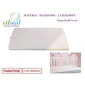 Vitmat Materac Piankowo-lateksowy BABY FRESH 120x60 cm