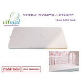 Vitmat Materac Piankowo-lateksowy BABY FRESH 140x70 cm