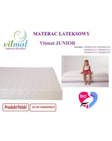 Vitmat Materac Lateksowy JUNIOR 190x90x12 cm