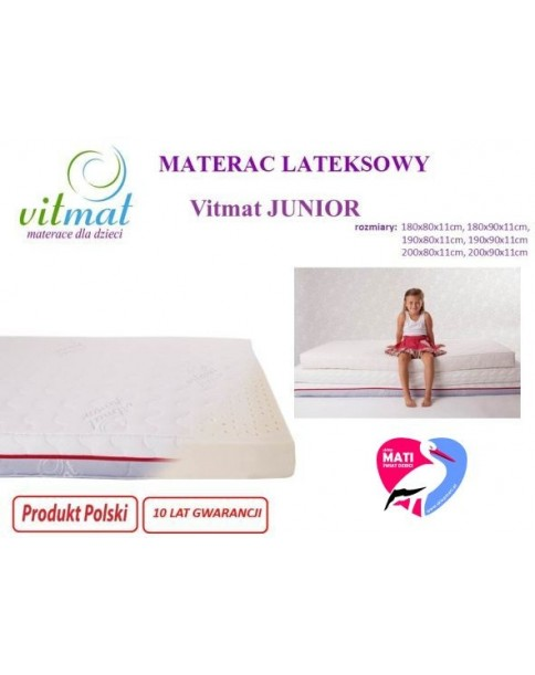 Vitmat Materac Lateksowy JUNIOR 200x90 cm do wyceny