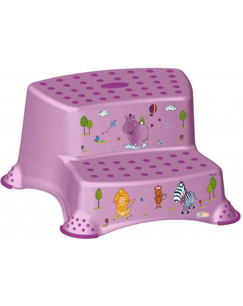 Keeeper podest podwójny dwustponiowy Hippo lila