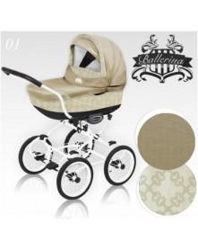 BabyActive Wielofunkcyjny Wózek Ballerina Heritage 3w1