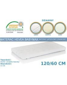 Hevea Materac piankowy-lateksowy Baby Max Aegis/Medica/Bamboo 120/60cm