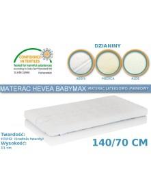 Hevea Materac piankowo-lateksowy BabyMax 140/70cm Aegis/Medica/Bamboo