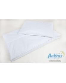 Ankras wkład pościelowy biały poduszka 40x60cm +kołdra 120x90cm
