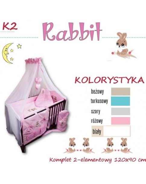 Ankras Pościel 2 elementowa Rabbit szary bez wypełnienia 120/90 40/60