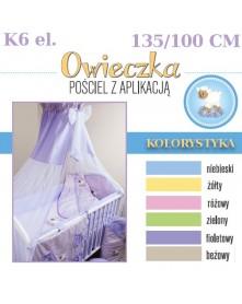 Ankras Pościel 6 elementowa słodki sen Owieczka 135/100 40/60 z ochraniaczem 180 cm i baldachimem