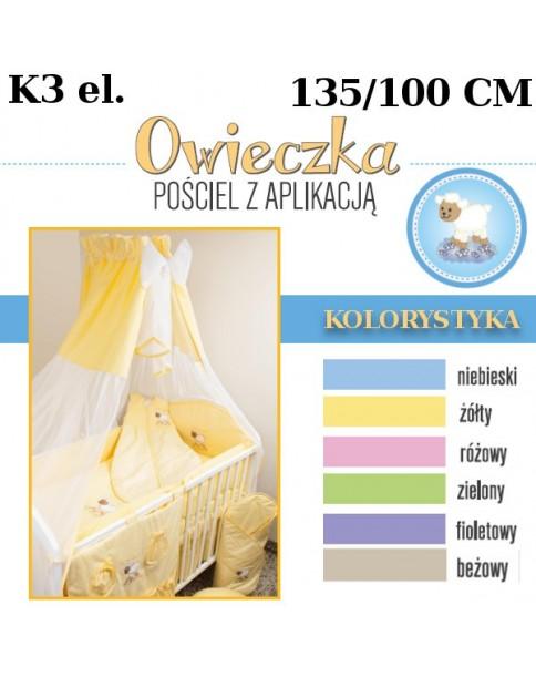 Ankras Pościel 3 elementowa słodki sen Owieczka bez wypełnienia 135/100 40/60 z ochraniaczem 180cm