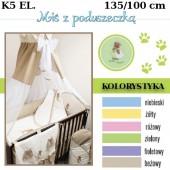 Ankras Pościel 5 elementowa słodki sen Miś 135/100 40/60 z ochraniaczem 180 cm