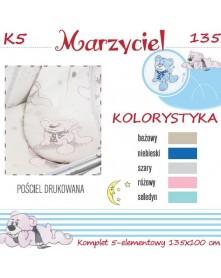 Ankras Pościel 5 elementowa Marzyciel 135/100 40/60 z ochraniaczem 180cm