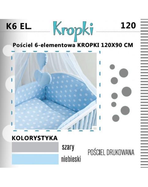 Ankras Pościel 6-elementowa Kropki 120/90 cm
