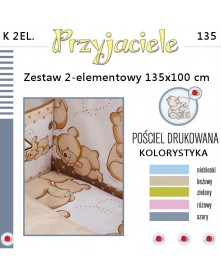 Ankras Pościel 2-elementowan Przyjaciele 135/100 cm