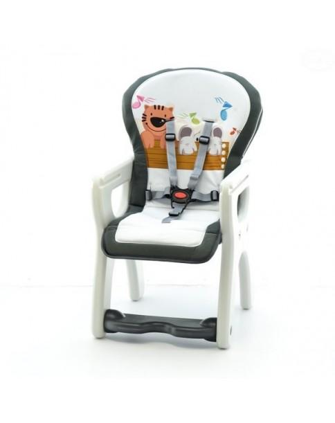 Eurobaby Krzesełko wielofunkcyjne Komfort SZARY TYGRYS