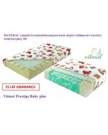 Vitmat Materac z pianki wysokoelastycznej Prestige Baby Plus 120x60 cm.