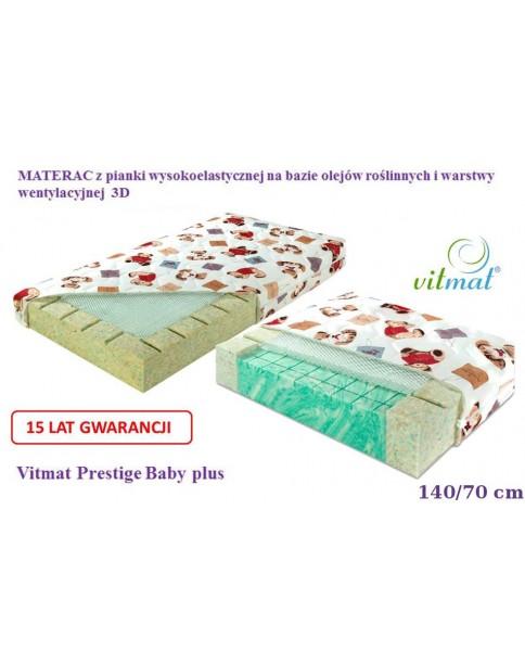 Vitmat Materac z pianki wysokoelastycznej Prestige Baby Plus 140x70 cm