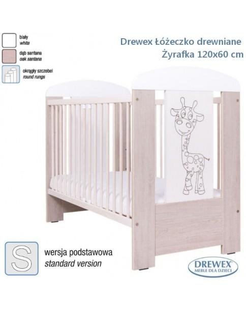 Drewex Łóżeczko drewniane Żyrafka 120x60 cm